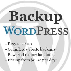 MyRepono WordPresss backup and restore option