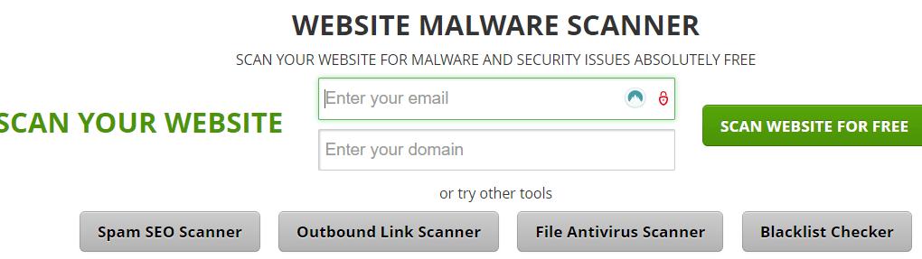 SiteGuarding free Scanner