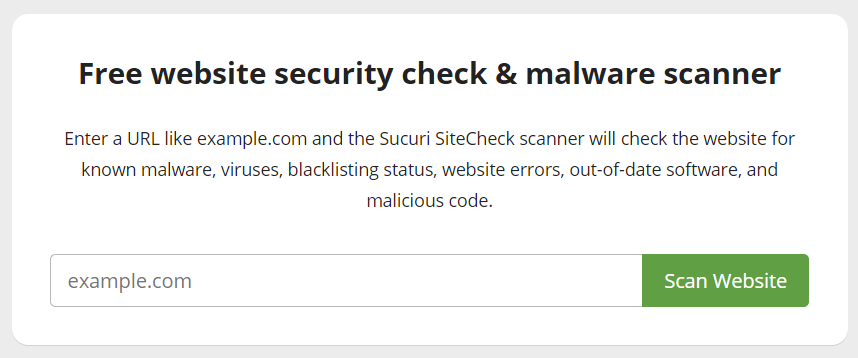 sitecheck sucuri.net